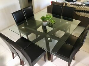 Dining Table Set (8 seat) with Side Table   Coffee Table