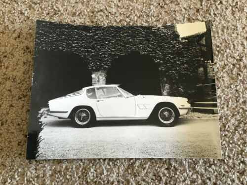 1960S  Maserati  original  black an white photo.