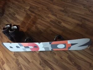 Burton Clash 158 snowboard, Mission bindings and thirtytwo boots
