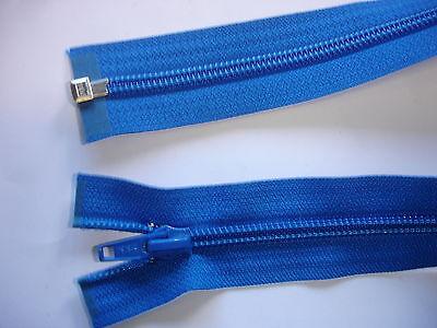 1 Stück Reißverschluß YKK blau 52cm lang,  teilbar X113