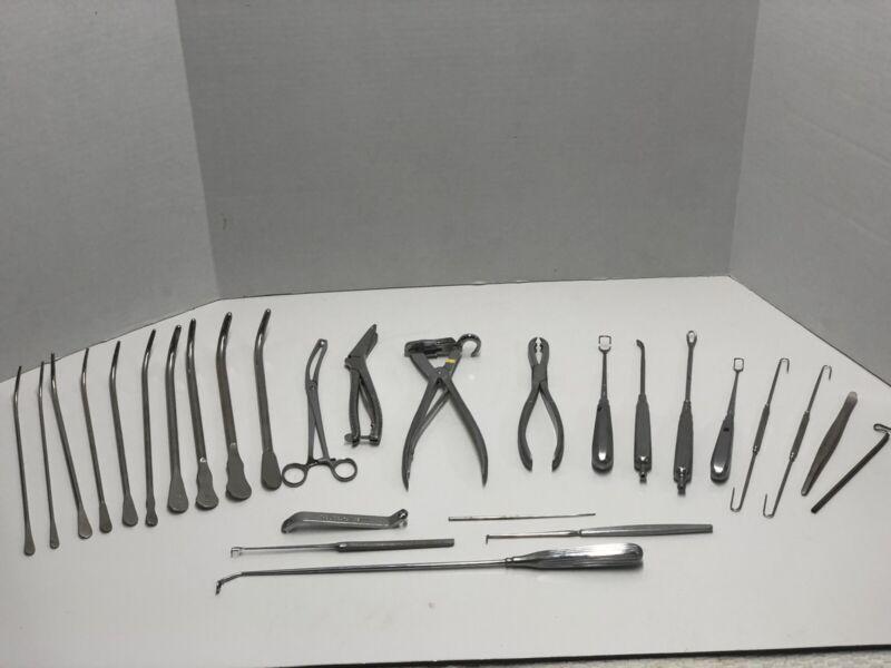 Lot Vintage Hospital Medical Surgical Tools  USA Germany Penn Koenig Boker (D9)