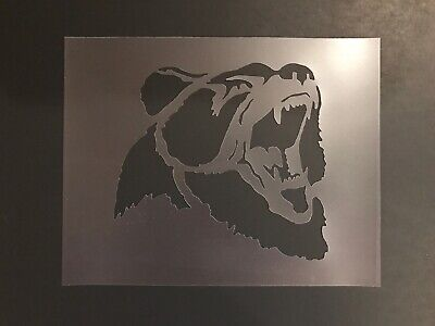 Bear #1 Stencil 10mm or 7mm Thick, Black, Brown, Polar, Grizzly -