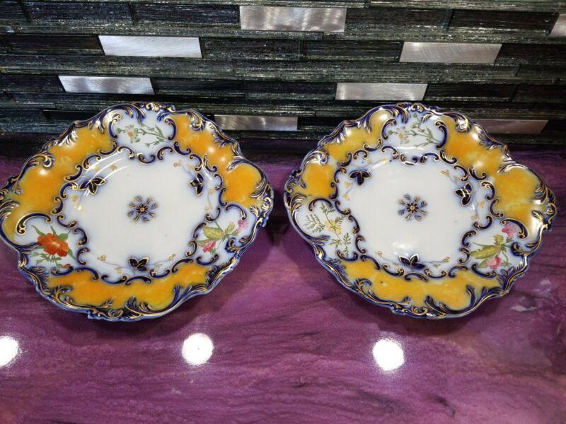 Old Paris Porcelain Antique, Cobalt, Hand painted floral patterns & gold gilt
