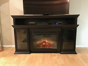 Dimplex electric fireplace /tv stand with storage