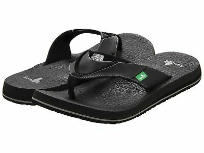 - New Sanuk Men's Beer Cozy Flip Flop Mens Thongs Sandal Black