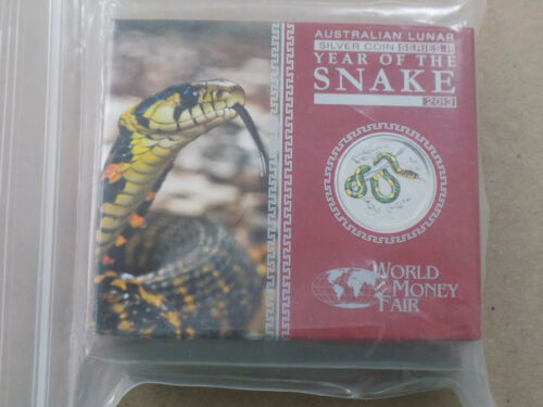 2013 AUSTRALIA LUNAR YEAR OF THE SNAKE 1OZ. COLOR PROOF COIN