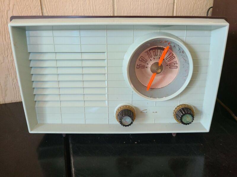 Vintage Coronado Radio Blue Brown Turquoise Model 05RA37-43-8360A