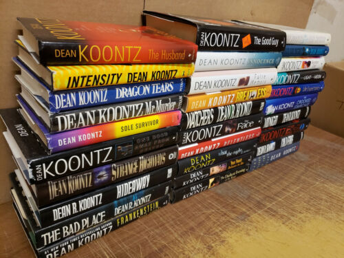 Lot of 10 Dean Koontz HARDCOVER Odd Thomas Moonlight Frankenstein SET RANDOM*MIX