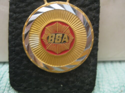 NOS Rare BSA Motorcycles key chain holder fob Made in Italy Bantam Goldstar Fury