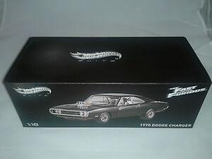 Hot Wheels Elite Fast & Furious Dodge Charger 1970 1/18 - BERNAREGGIO, MI, Italia - L'oggetto può essere restituito - BERNAREGGIO, MI, Italia