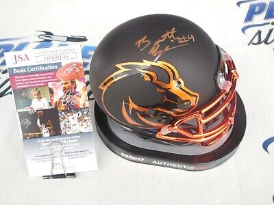 Brett Rypien signed Boise State BSU Broncos Halloween mini helmet JSA COA