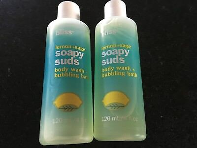 Bliss Soapy Suds 2 x 4oz Lemon and Sage