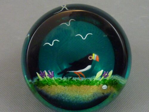 Caithness Glass Paperweight Puffin William Manson 63/100