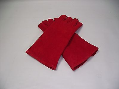Leather heat resistant Gloves log burner, ovens BBQ Aga, can be PERSONALISED