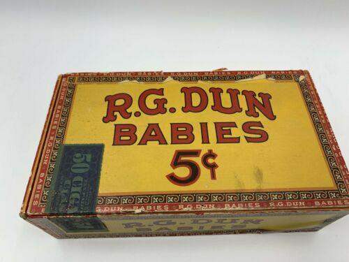 VINTAGE R.G. DUN BABIES 5 CENT CIGAR BOX - RARE - EMPTY