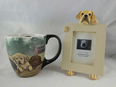 - Lang Labrador Retriever Puppies Labs Coffee Mug + small picture frame