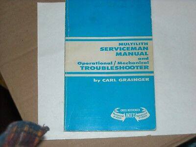 Multilith Serviceman Manual Operationalmechanical Troubleshooter