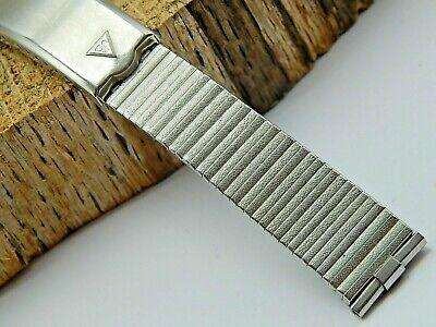 "Vintage NOS unused Stainless Steel JB Champion watch band bracelet 17.5mm 11/16"""