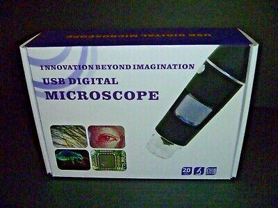 Amscope Handheld Digital Usb Microscope - Windows Mac - 20 Mpix New In Box