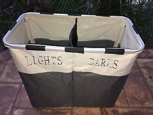 Laundry hamper basket, 2 x wardrobe hanging shelves, 70+ coat hangers Windsor Brisbane North East Preview