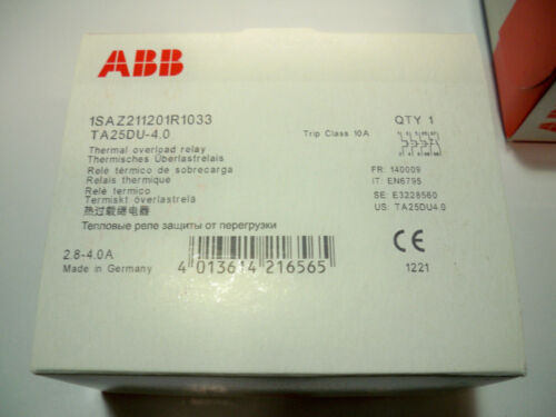1 LOT OF 16 ABB TA25DU-4.0 1SAZ211201R1033   2.8-4A Thermal Overload Relay