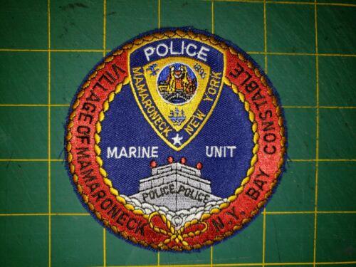 VILLAGE OF MAMARONECK NEW YORK BAY CONSTABLE MARINE UNIT POLICE PATCH NY