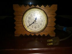 Vintage Wood Wooden Case  Seth Thomas Shelf Easel Desk electric alarm Clock