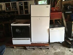 Fridge stove dishwasher