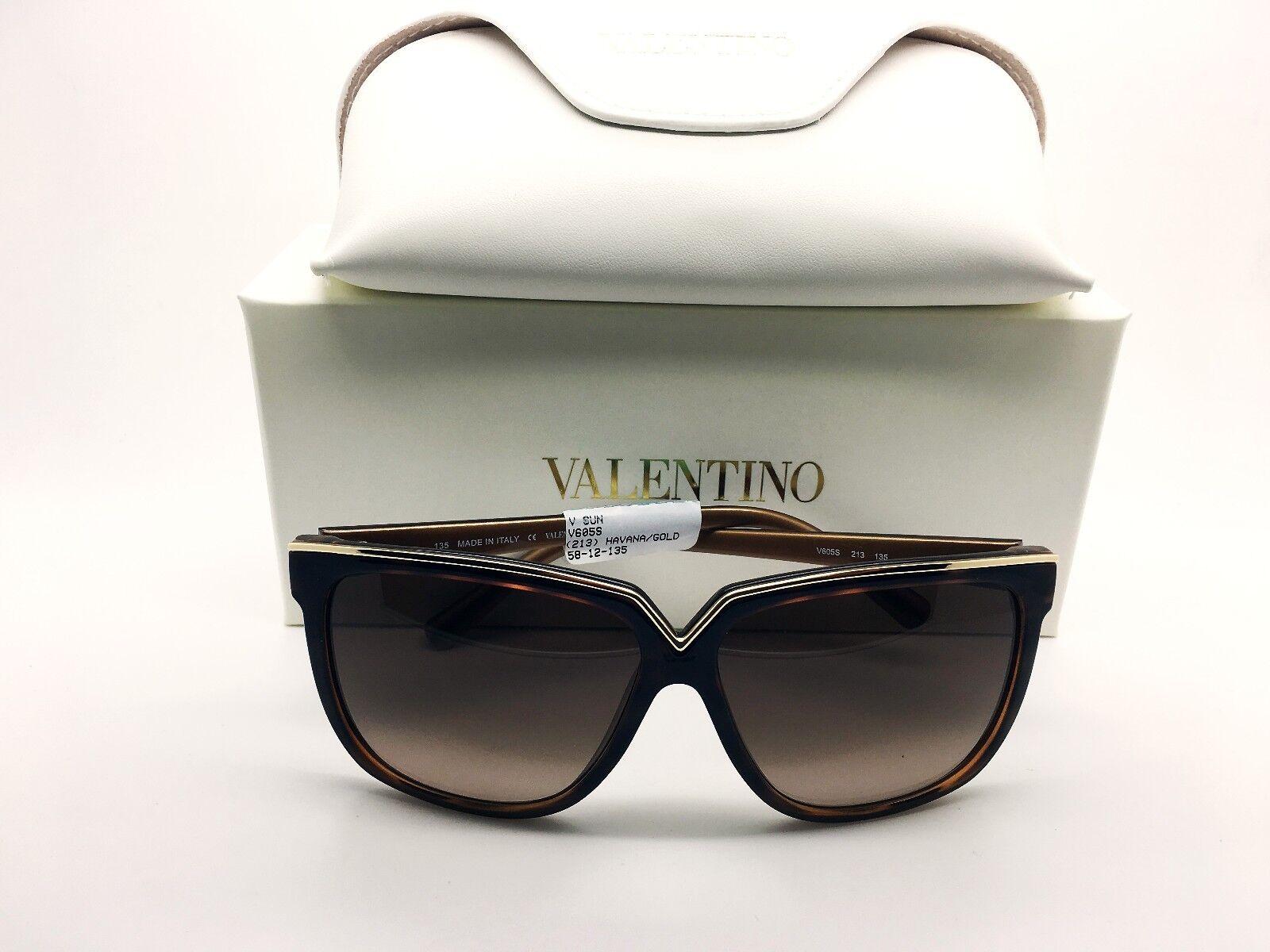 efbfe71fd20 Valentino Sunglasses Women 2017 V605 S Havana  Gold Made in Italy  Authentic+Case