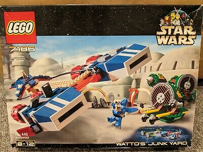 Vintage LEGO 7186 Star Wars WATTO'S JUNKYARD Complete w/ Parts + Manual + Box !!