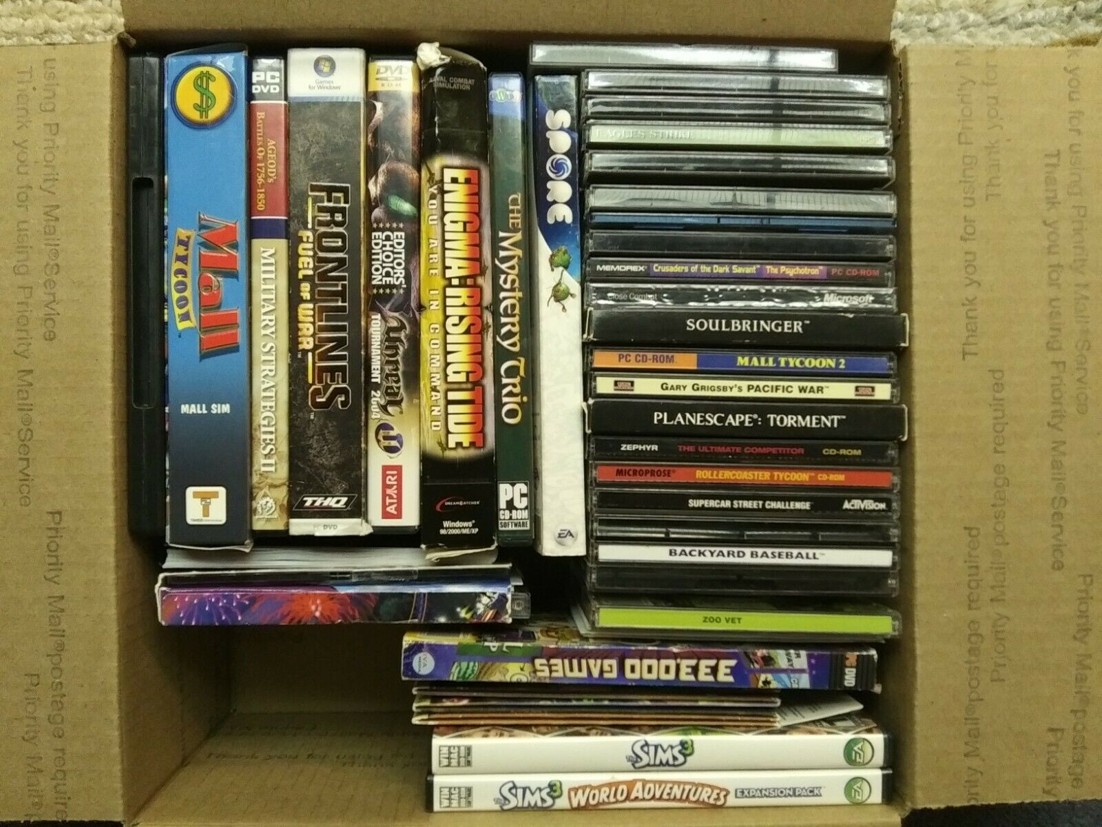 Computer Games - Lot of 40 PC Computer Games Bulk Video Game Lot