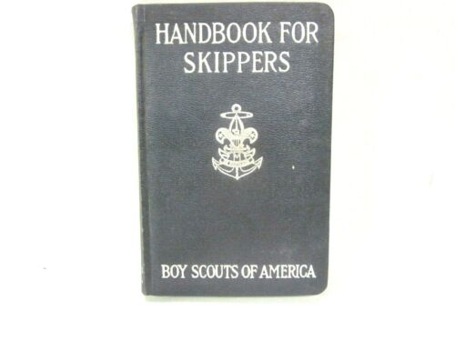 VINTAGE RARE 1934 BSA BOY SCOUTS of AMERICA HANDBOOK FOR SKIPPERS