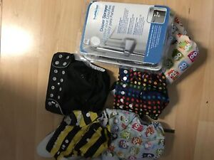Cloth diapers and diaper sprayer -used , as is