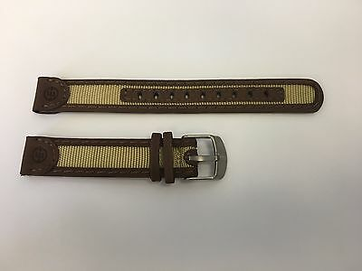 Timex Expedition Watch Band TX2236 Leather/Nylon Brown/Beige watch band 16mm  Brown Expedition Watch Band