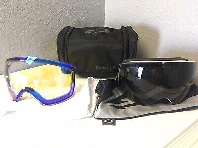 Oakley Flight Deck Goggle Bundle Extra Lens Grey HI Yellow Soft Case