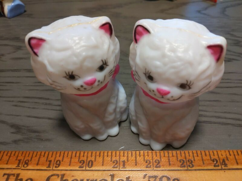 Vintage  Imports Kitten Salt & Pepper Shakers w/ Squeaker Japan