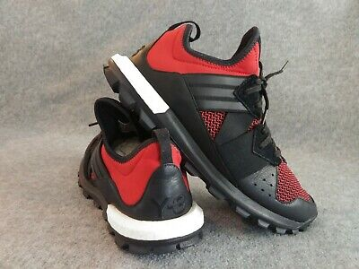 $340 Y-3 Yohji Yamamoto Respnse TR Boost Athletic Trail Shoes Black Red 10.5