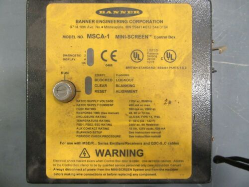 Banner Engineering Safety Controller MSCA-1 - Used
