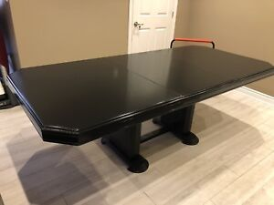 Black Dining table with Insert
