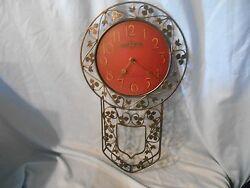 Howard Miller Bernice 625-375 Wrought Iron Pendulum Clock Battery Operated Rare