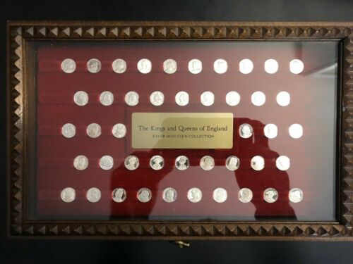 KINGS AND QUEENS OF ENGLAND SILVER MINI-COIN COLLECTION  **FREE SHIPPING**