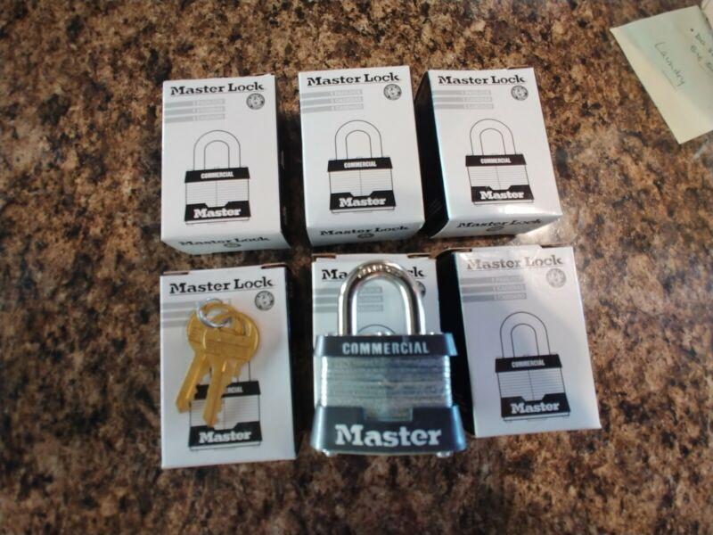 Lot of 6 NEW Master Lock #3KA KEYED ALIKE Identical Same PADLOCKS SET
