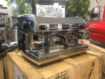 WEGA POLARIS 2 GROUP HIGH CUP ESPRESSO COFFEE MACHINE - CHROME