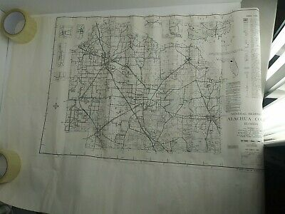 """1989 Alachua County Florida State Gainesville DOT Map 24""""x 36"""" Large USED (1A1)"""