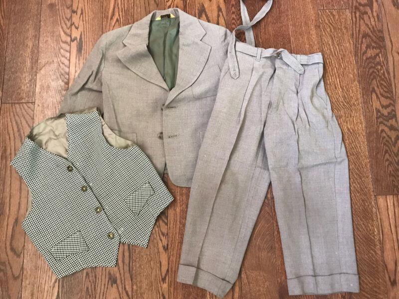 Vintage 50's 60's 3-piece Esskay Suit - Boys 4