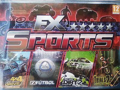 FX Sports Deluxe (Pack Videojuegos deportivos de PC). NUEVO EN CAJA. PRECINTADO.