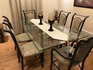 Iconic Glass Dining Table Set - Excellent Condition