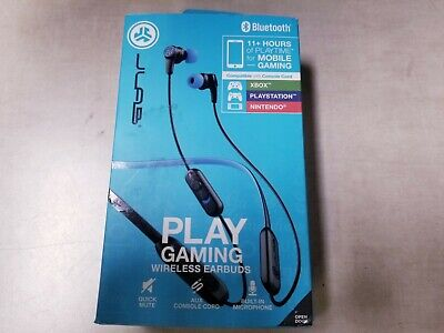 JLab Audio - Play Wireless Stereo Gaming Earphones - Black/Blue