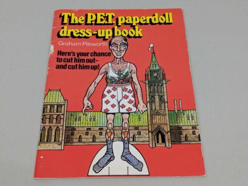 Book Pickers 1982 P.E.T. Pierre Trudeau Paperdoll Dress-Up Caricature Book Rare!
