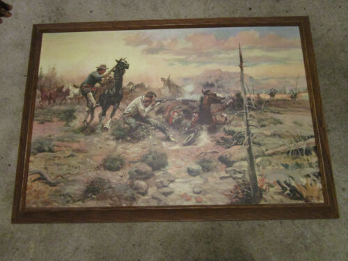 When Horse Flesh Comes High by Charles M Russell Painting Print w/ Frame